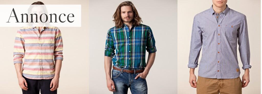 Du kan også købe en stribet langærmet skjorte