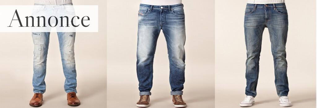 Eksempler på jeans til mænd