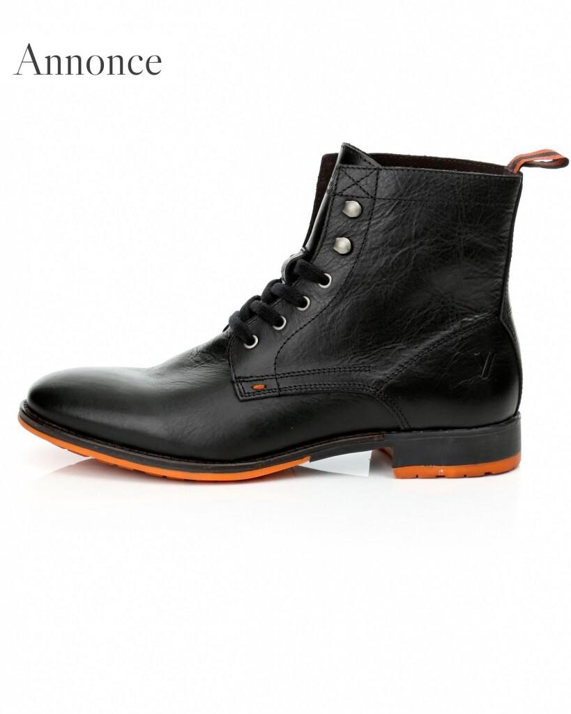 Fede læderstøvler til mænd