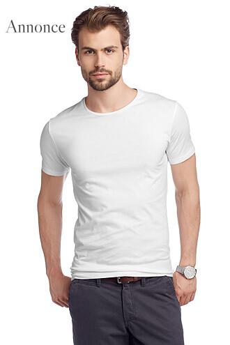 T-shirt i bomuldsjersey