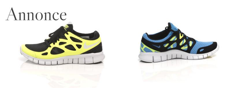 To eksempler på Nike free run