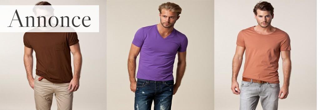 T-shirts til mænd er et populært tøjvalg