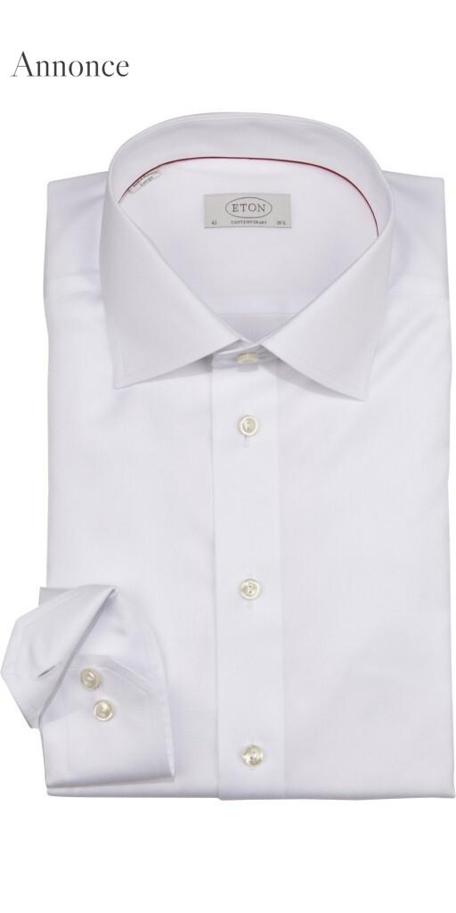 hvid eton skjorte